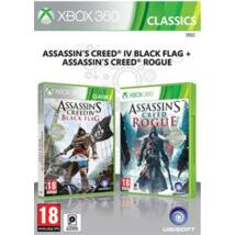Assassin's creed IV Black Flag & Assassin's Creed Rogue Xbox 360 (használt)