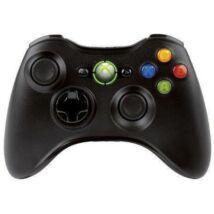 Vezeték-nélküli Xbox 360 Fekete Kontroller (használt, tesztelt, 1 hónap garanciával)