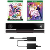 Xbox One Kinect + Adapter Szett (újszerű, 6 hónap garancia) + Just Dance 2019 + Just Dance 2020