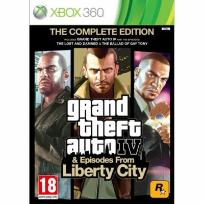 Grand Theft Auto 4 + Episodes from Liberty City (The Complete Edition) Xbox 360 (használt)